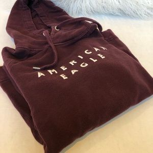 American Eagle Outfitters Maroon Sweatshirt Small